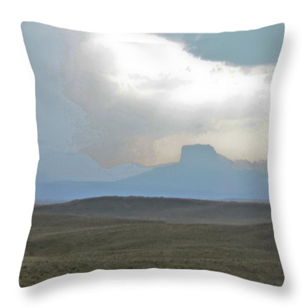 Butte In The Distance Throw Pillow by David Kehrli