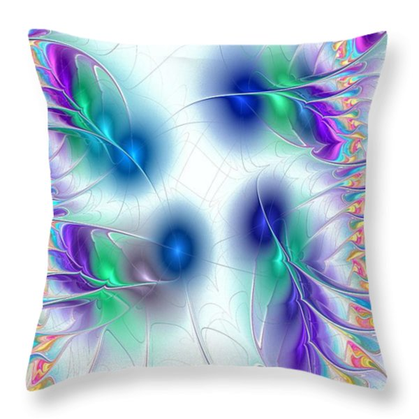 Butterflies Throw Pillow by Anastasiya Malakhova
