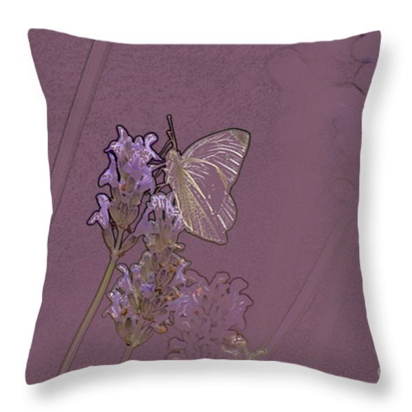 Butterfly 2 Throw Pillow by Carol Lynch
