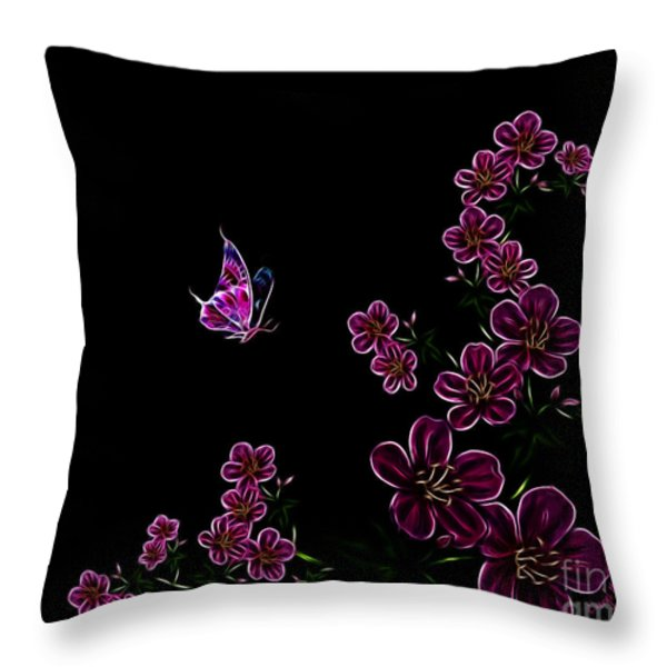 Butterfly Dancer 1 Throw Pillow by Cheryl Young