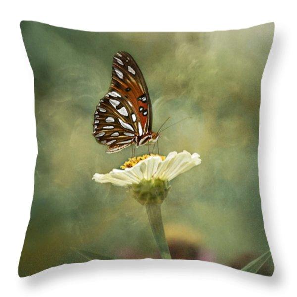 Butterfly Dreams Throw Pillow by Kim Hojnacki