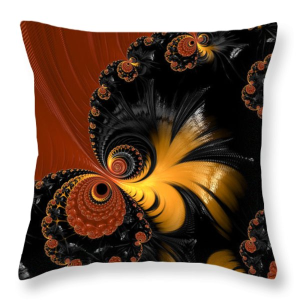 Butterfly Throw Pillow by Heidi Smith