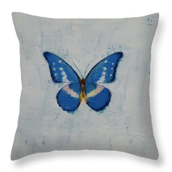 Butterfly Throw Pillow by Michael Creese