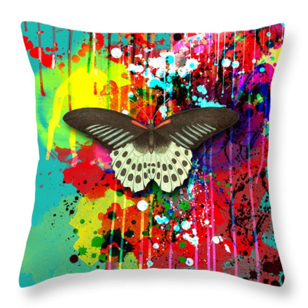 Butterfly Montage Throw Pillow by Gary Grayson