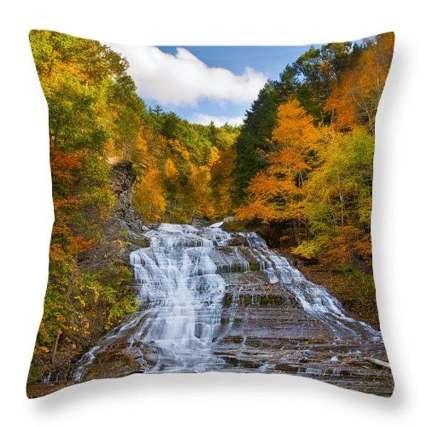 Buttermilk Falls 2 Throw Pillow by Mark Papke