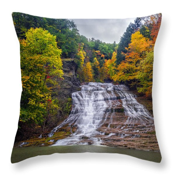 Buttermilk Falls Throw Pillow by Mark Papke