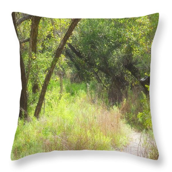 Buttonwood Forest Throw Pillow by Rudy Umans