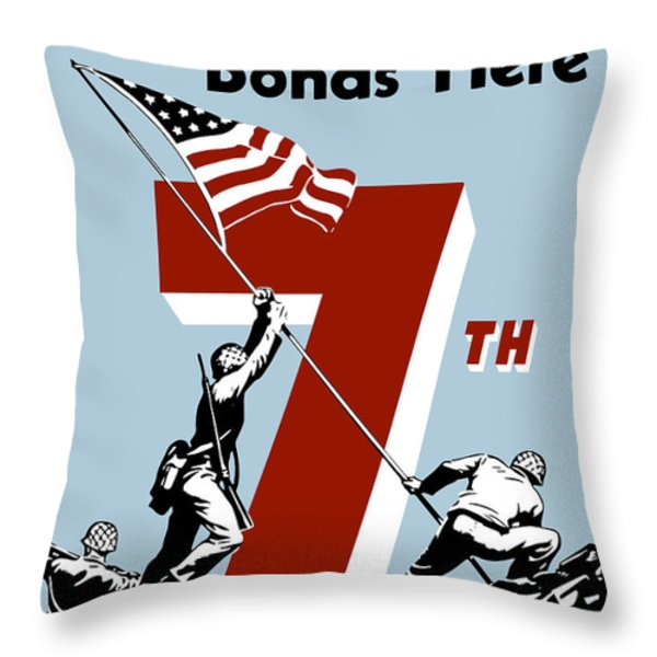 Buy Your Extra Bonds Here Throw Pillow by War Is Hell Store