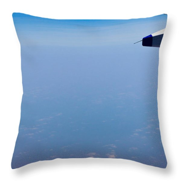 by Land Sea or Air Throw Pillow by Saurav Pandey