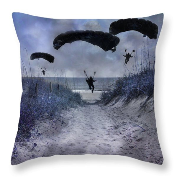 By Light of the Moon Throw Pillow by Betsy A  Cutler