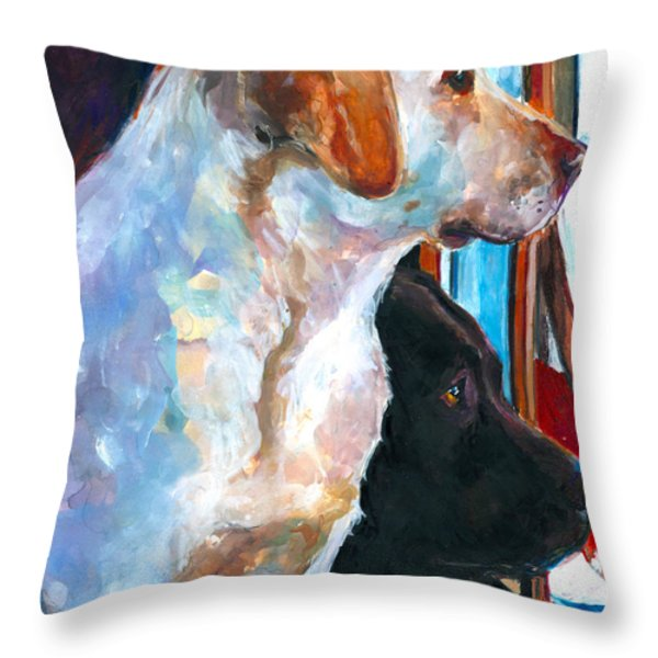 By My Side Throw Pillow by Molly Poole