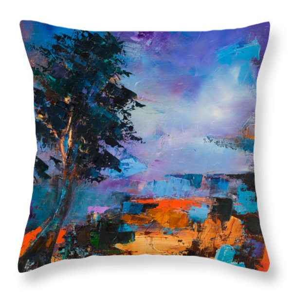 By the Canyon Throw Pillow by Elise Palmigiani