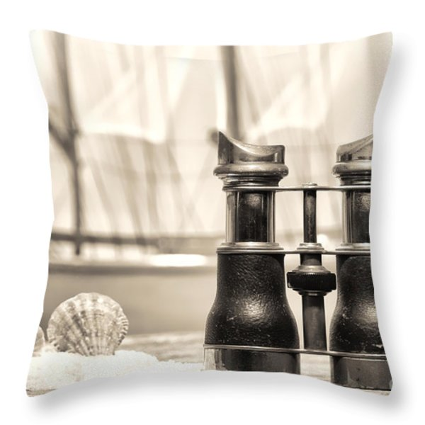 By The Sea Throw Pillow by Olivier Le Queinec