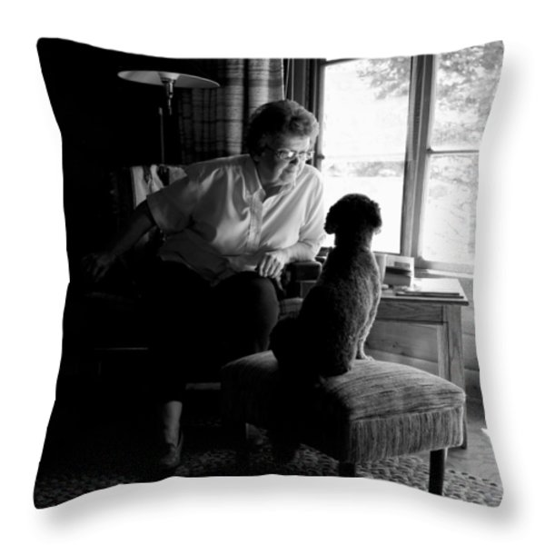Cabin Chat Throw Pillow by Trever Miller