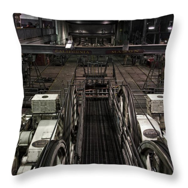 Cable car barn in San Francisco Throw Pillow by RicardMN Photography