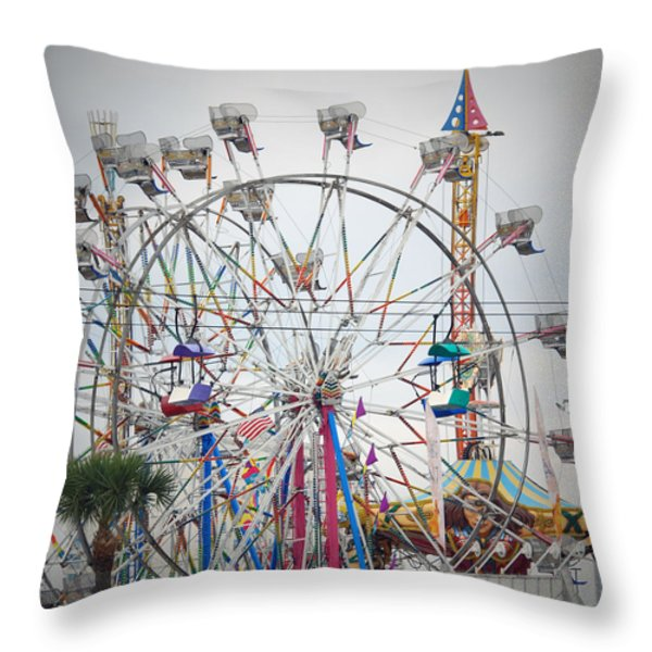 Cables Wires And Wheels Oh Boy Throw Pillow by Judy Hall-Folde