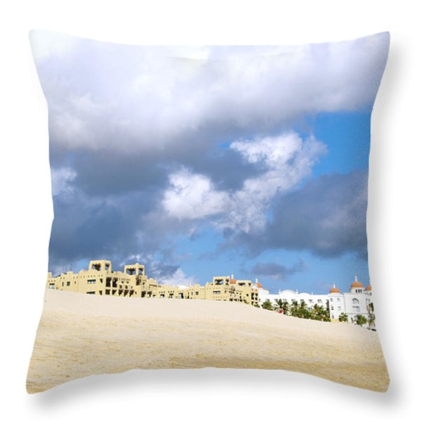 Cabo Mexico Throw Pillow by Haleh Mahbod