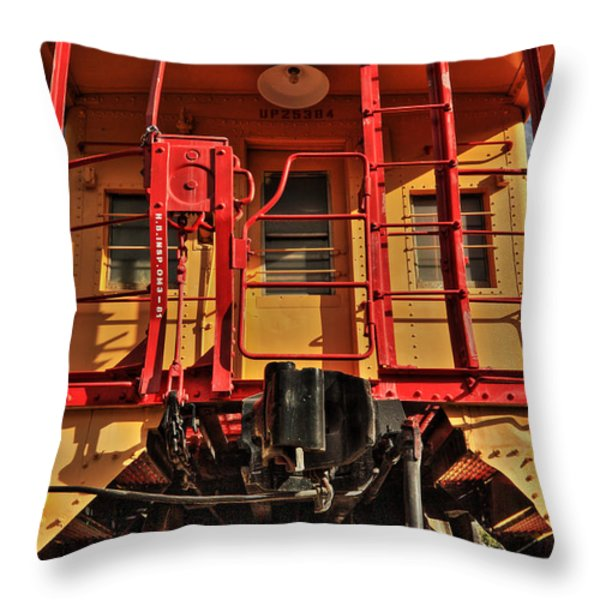 Caboose Throw Pillow by James Eddy