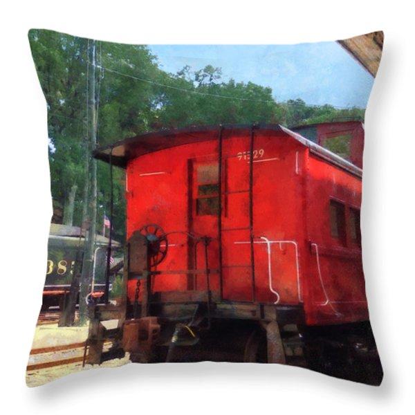 Caboose Throw Pillow by Susan Savad