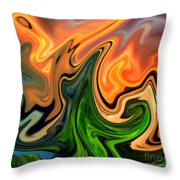 Cactus Throw Pillow by Chris Butler
