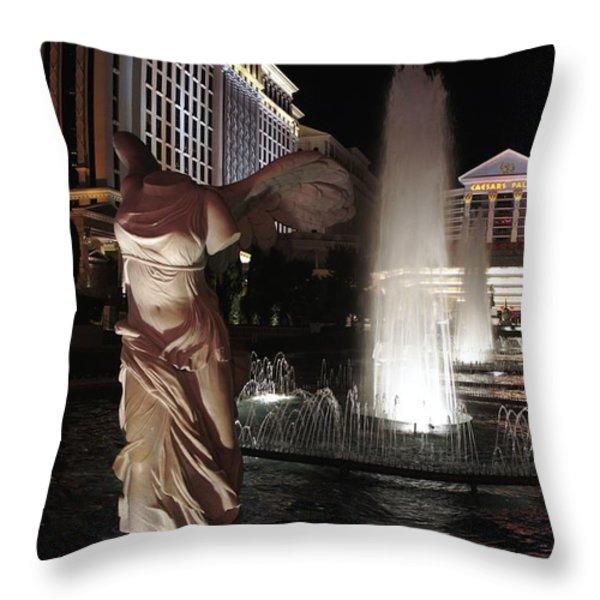 Caesars Fountain Throw Pillow by Jenny Hudson