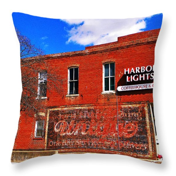 Cafe Throw Pillow by Chris Berry