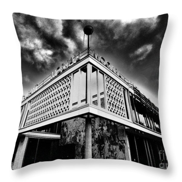 Cafe Moscow Berlin Throw Pillow by Andy Prendy