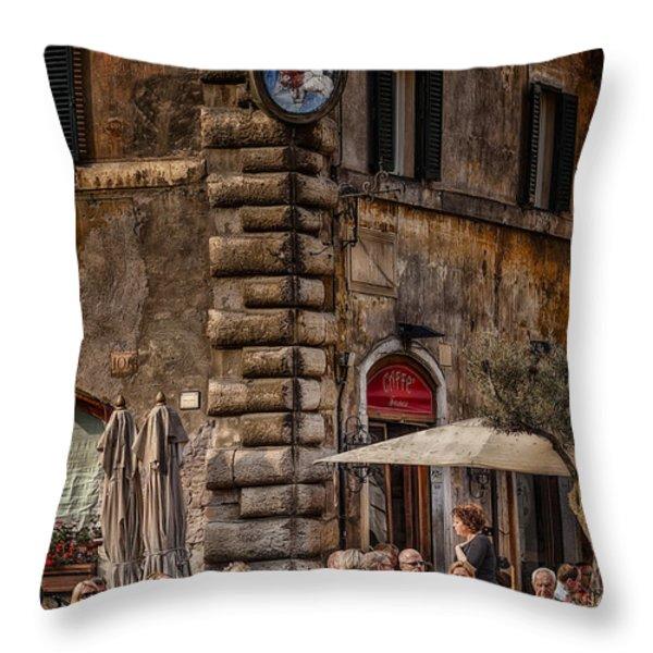 Cafe Roma Throw Pillow by Erik Brede