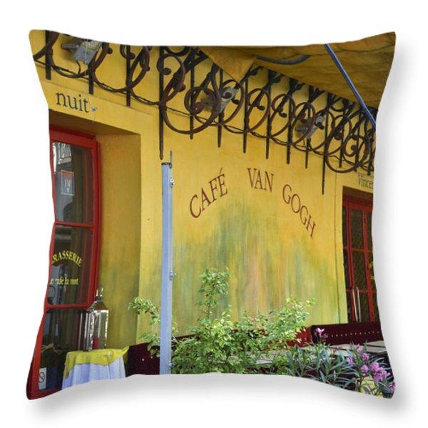 Cafe Van Gogh Throw Pillow by Allen Sheffield