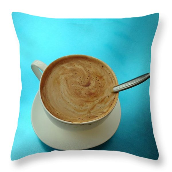 Caffe Americano Throw Pillow by Anna Villarreal Garbis