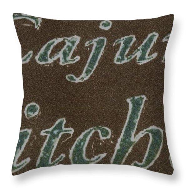 Cajun Kitchen Throw Pillow by Joseph Baril