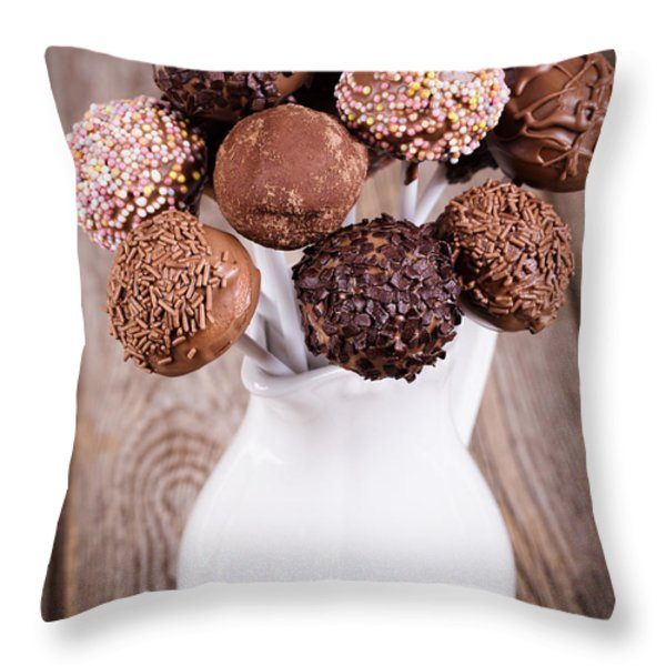 Cake pops Throw Pillow by Jane Rix
