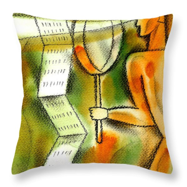 Calculation Throw Pillow by Leon Zernitsky