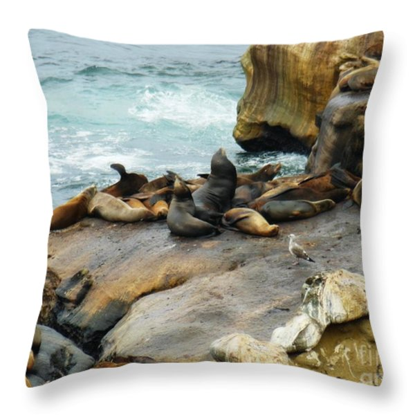 California Dreaming Throw Pillow by Mary Machare