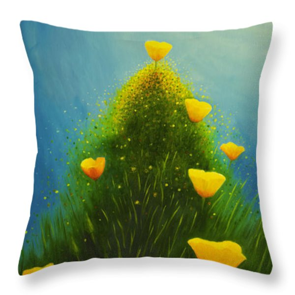 California Poppies Throw Pillow by Veikko Suikkanen