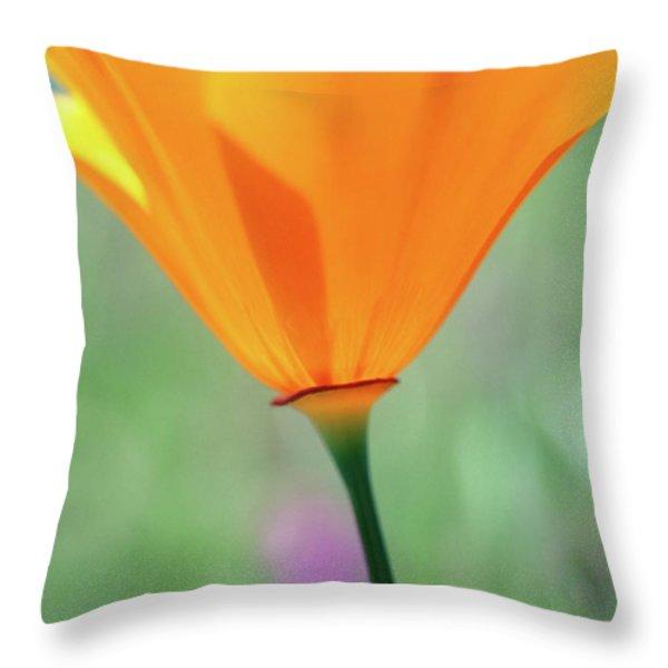 California Poppy Throw Pillow by Kathy Yates