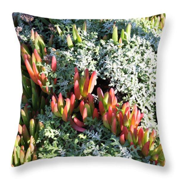 California Seaside Garden Throw Pillow by Carol Groenen