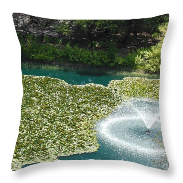 Calistoga Summer Throw Pillow by Mini Arora