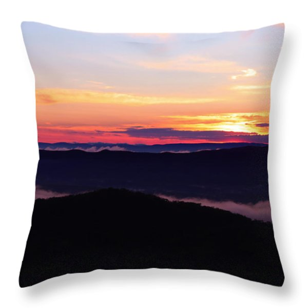 Call Of The Mountains Throw Pillow by Rachel Cohen