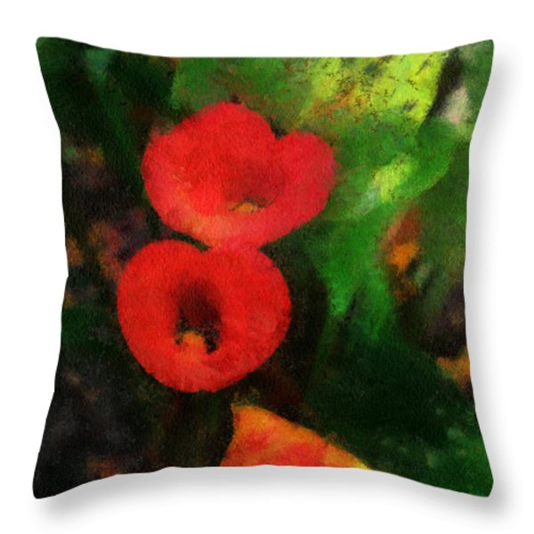 Calla Lilies Photo Art 03 Throw Pillow by Thomas Woolworth