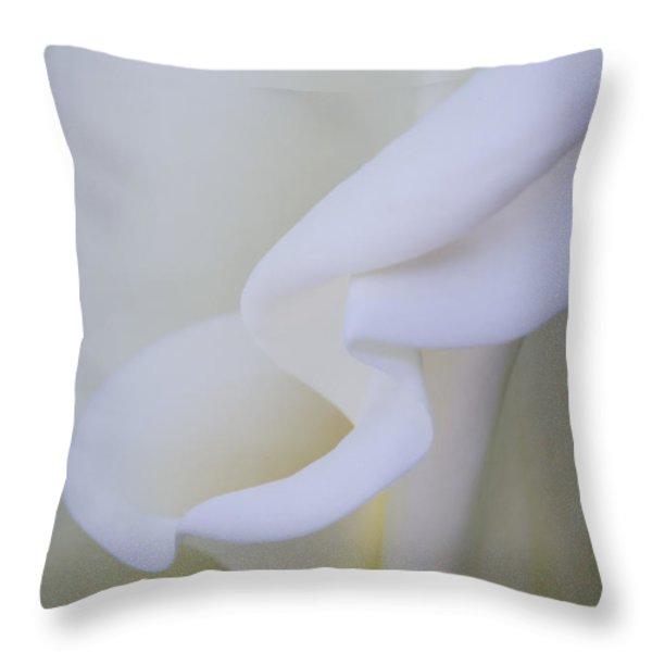 Calla Lily Throw Pillow by Kelly McNamara
