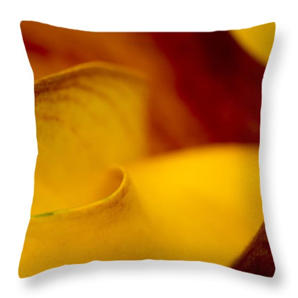 Calla Lily Waves Throw Pillow by Sebastian Musial