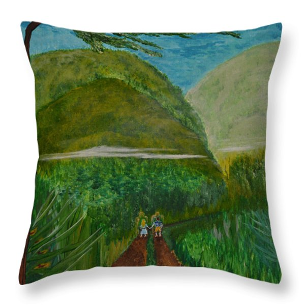 Called To The Mission Field Throw Pillow by Cassie Sears