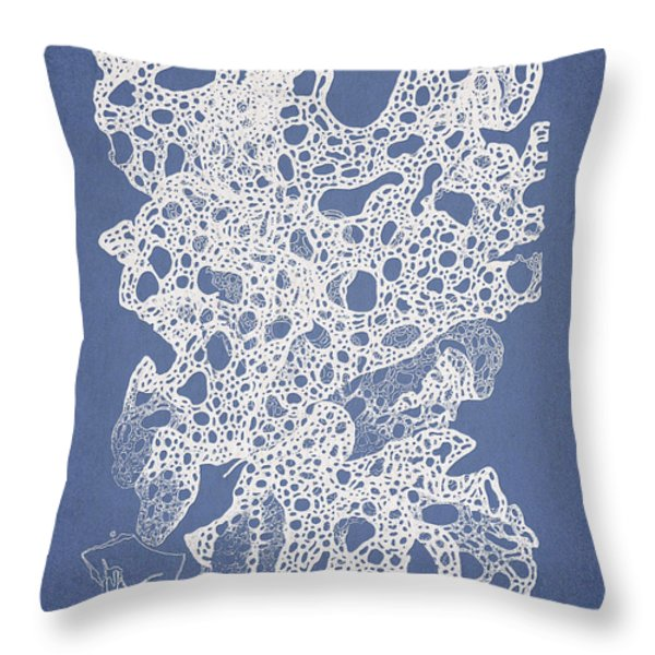 Callymenia cribrosa Throw Pillow by Aged Pixel