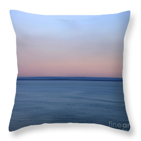 Calm sea Throw Pillow by BERNARD JAUBERT