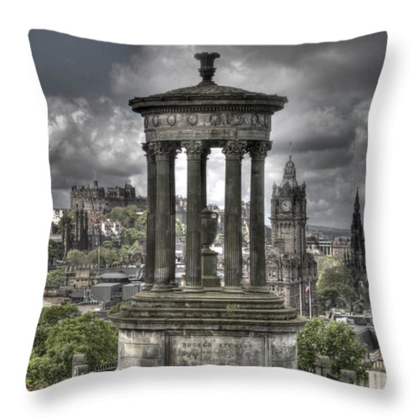 Calton Hill Throw Pillow by Marion Galt