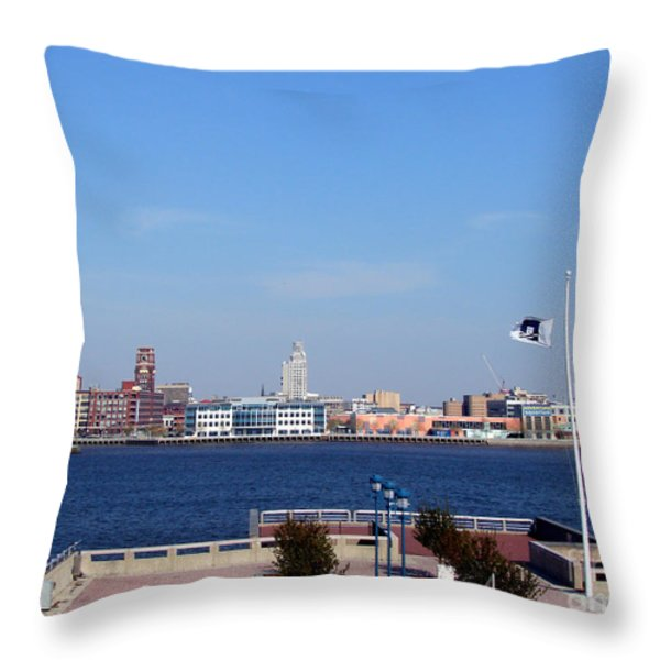 Camden Waterfront Throw Pillow by Olivier Le Queinec