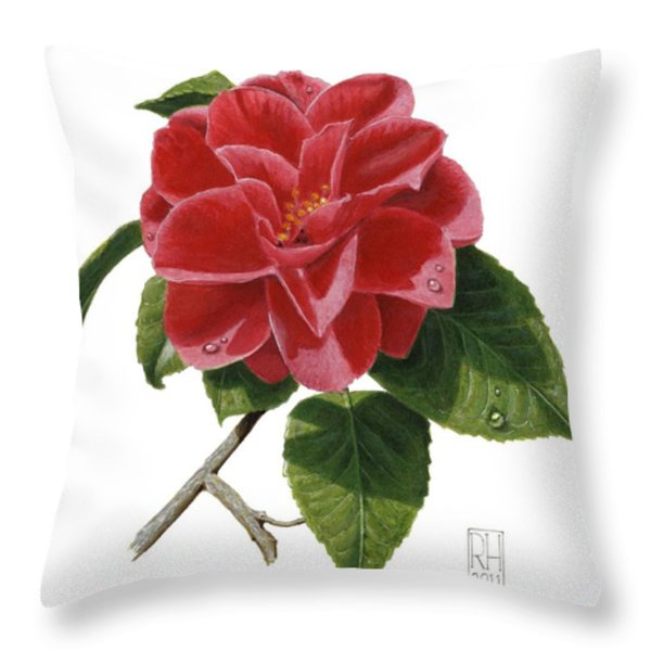 Camellia Throw Pillow by Richard Harpum