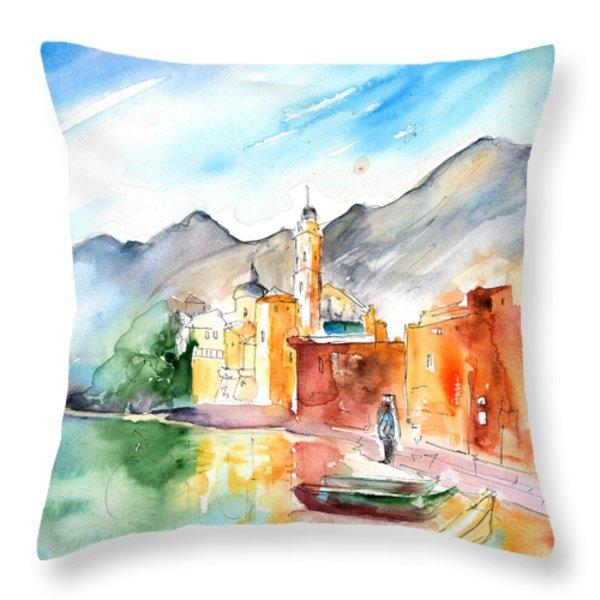 Camogli In Italy 11 Throw Pillow by Miki De Goodaboom