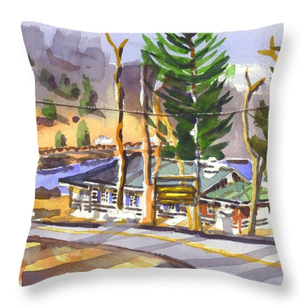 Camp Penuel At Lake Killarney Throw Pillow by Kip DeVore